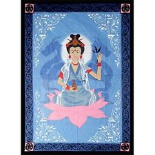 BED SPREAD: KUAN YIN Wicca Pagan Witch Goth Yoga Hippie ALTAR CLOTH WALL HANG