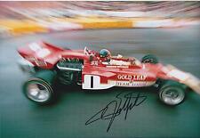 Emerson FITTIPALDI Autograph SIGNED Team LOTUS Formula 1 F1 12x8 Photo AFTAL COA