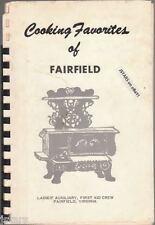 c. 1967 FAIRFIELD FIRST AID CREW LADIES AUXILIARY COOKBOOK, FAIRFIELD, VA