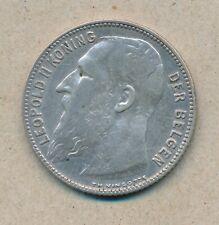 België/Belgique 1 fr. Leopold II 1909 Vl Morin 201a (134738)
