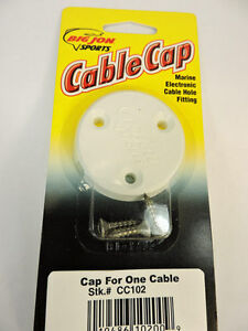 BIG JON Downrigger Parts Cable Cap White One Wire Dashboard Transom Top CC102W