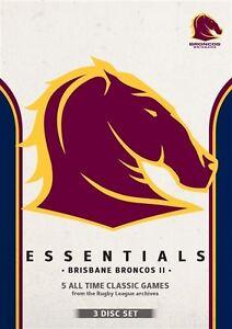 NRL - Essentials - Brisbane Broncos II - brand new 3dvd set - free post!