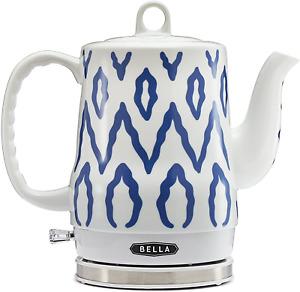 Bella 1.2 Liter Electric Ceramic Tea Kettle With Detachable Base  Boil Dry Prot