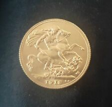 More details for 1913 full gold sovereign king george v  free postage