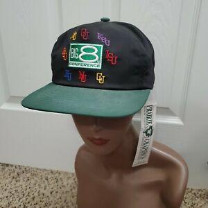 Vintage New Deadstock USA Big 8 Conference Kansas Snapback Hat Cap NWT