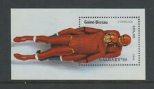 Guinea Bissau - 1988, Winter Olympic Games, Bobsleigh sheet - MNH - SG MS1012