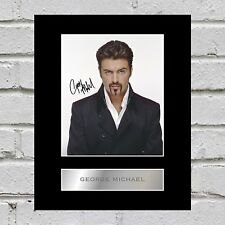 George Michael Signed Mounted Photo Display