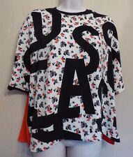 Topshop UK10 EU38 US6 new oversized top with floral/letters front and red back