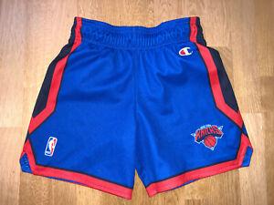 Vintage New York Knicks Large Youth CHAMPION NBA Jersey Shorts Shirt short B214