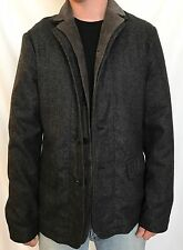AllSaints Benett Wool & Leather Blazer. Retail $504 Price $190 NWT Double Lapel.