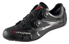 Scarpe bici corsa Vittoria Ikon carbon road bike shoes 43 black matt nero opaco