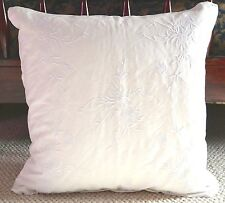 HTF RALPH LAUREN HOME DEAUVILLE JEMMA EMBROIDERY THROW PILLOW ~ WHITE