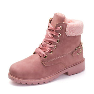 Winter New Boots Women's Fur Lined Warm Snow Boots Comfort Cotton Shoes