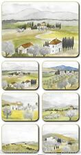 'Tuscany' Italian region inspired Cork Backed Coasters - Set of 6 *NEW*