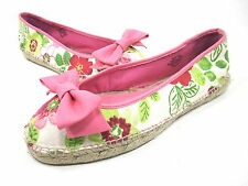 NINE WEST, OPTINN BALLET FLAT, WOMENS, NATURAL MULTI/ PINK, US 9.5M, NEW W/O BOX