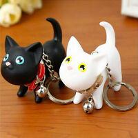 Cute Cat Kitten Key Chains Keyrings HandBags Pendant Ornament Kid.QA