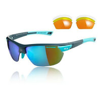 Sunwise Unisex Kennington Interchangeable 4 Sets Of Lenses - Grey Blue Sports
