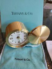 VINTAGE TIFFANY & CO BRASS SWISS MADE TRAVEL ALARM CLOCK