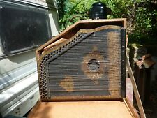 More details for old german zither, needs work, 32 strings in own wooden box, large