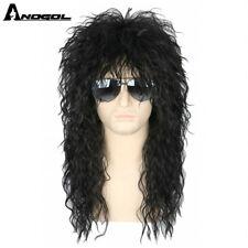 70s 80s Hallween Metal Rocker Disco Blonde Wigs with Bangs Mullet Wigs for men