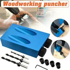 7/14PCS Pocket Hole Screw Jig Dowel Drill Sets Woodworking Joint Hole