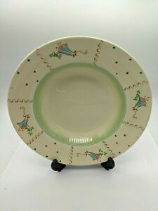 Clarice Cliff Hand painted 9 inch  Bowl Wilkinson Ltd England C 1936