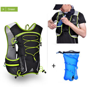 Running Hydration Pack Backpack Bag + 2L Water Bladder Hiking Camping Cycling