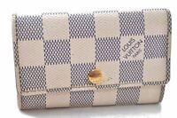 Auth Louis Vuitton Damier Azur Multicles 6 Four Hooks Key Case N61745 LV A9881
