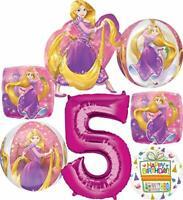 Princess Rapunzel Party Supplies 5th Birthday Orbz Balloon Bouquet Decorations