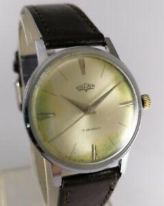 Vintage Vulcain Men Wrist Watch Swiss Made Hand Winding