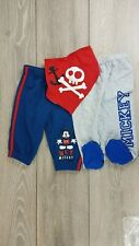 3 Piece Official Disney Mickey Mouse Baby Boy Bottoms Pant & Bib 6-9 Mnth A16311