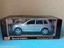 Maisto  Porsche Cayenne Turbo Silver Special Edition Die Cast Metal 1:18 ovp