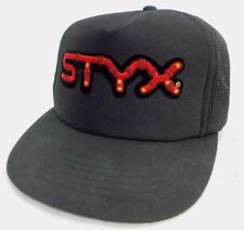 Vintage Styx Rock Band Snap Back Hat Trucker Cap Hat Concert tour live rock