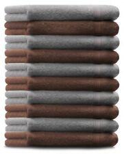 Betz Juego de 10 toallas de tocador GOLD 100% algodón gris plata y marrón nuez