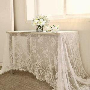 Rectangle Lace Tablecloth 60x120 Inch Vintage Rustic Farmhouse Table Fabric Home