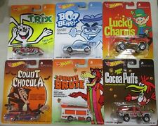 HOT WHEELS 2014  POP CULTURE  COMPLETE  SET  GENERAL MILLS  INCLUDE TRIX  CUSTOM