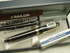 Japanese Sailor Profit Standard 21 Black 21K Fine-nib with converter 11-1521-220