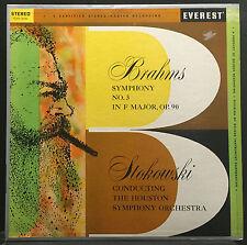 Stokowski / Brahms - Symphony No. 3 LP VG+ Stereo Everest SDBR 3030 Belock 1959