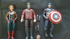 Marvel Legends Avengers MCU Figure Lot of 3 Captain America Marvel Starlord