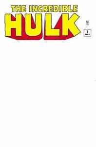 INCREDIBLE HULK #1 BLANK EXCLUSIVE FACSIMILE