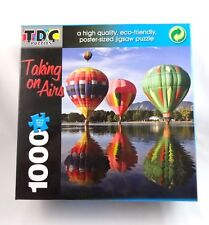Balloon puzzle hot air jigsaw 1000 pieces 19 by 26.5 inch taking on airs TDC