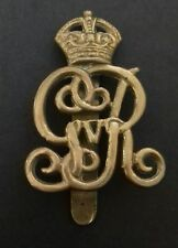 WWI George V Norfolk Yeomanry Cap Badge with Intact Slide