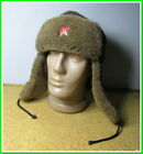 """Military warm Hat """"Ushanka"""" Red Army winter fur hat &  red star~size 58 #29921"""