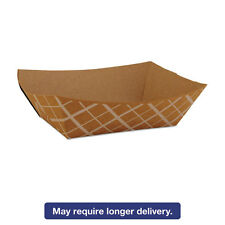 SCT Paper Food Baskets Brown/White Check 1 lb Capacity 1000/Carton 0513