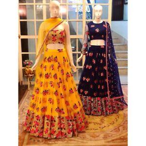 Bollywood Indian Wedding Lehenga Pakistani Lengha Designer Floral Lehnga Choli