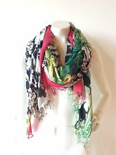 """ETRO OVERSIZED FLORAL PAISLEY PRINT WRAP SHAWL SCARF MULTI-COLORED 57"""" X 73"""""""