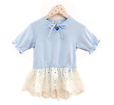 NWT Mae Li Rose Girls' Blue Keyhole Tunic ~ Size 6/6X