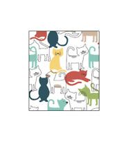 Ritz Swedish Dish Cloths 2 Pack - Mod Cat Allover EARTH FRIENDLY