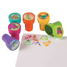 12 Everyday Birthday DINOSAUR Dino Dig Party Favors Mini STAMPERS Stamps
