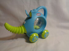 Little Tikes Rolling Blue / Green Elephant Plastic Click Rattle Toy - Rare